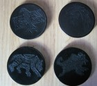 Four leather coaster's