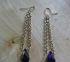 Plum purple earrings