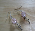 Pink keys earrings