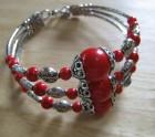 3 Bar coral stone bracelet