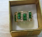 Gold and emerald ring