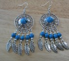 Large set of turquoise earrings