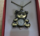 Teddy bear watch pendant