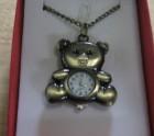 Teddy bear watch pendant