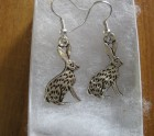 Sitting hare earrings