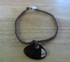 Braided brown necklace