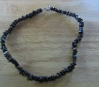Dark brown shell necklace