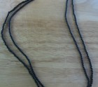 Long black beads