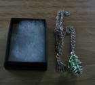 Green glass beaded pendant