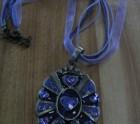 Purple bronze necklace