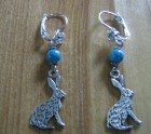 Turquoise and  Hare earrings