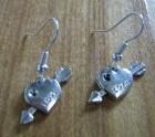 Love heart earring set