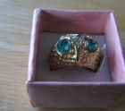 Gold coloured owl ring