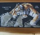 Cross stitch picture tiger