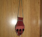 Decorative leather pouches red and black beads