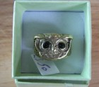 Little brass owl ring