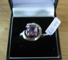 Purple silver lady's ring