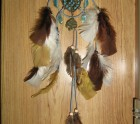 Blue heart dream-catcher