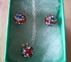 Union jack necklace and earring set