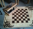 Chess Board TV Table And chess set