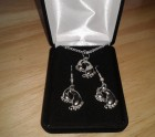 Mother and baby foot necklace set