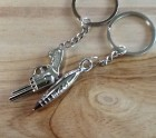 Gun and Bullet Key- rings