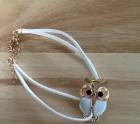 Little white owl bracelet