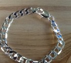 Silver curb link chain bracelet