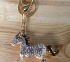 Diamanté horse key-ring