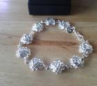 Silver rose bracelet