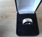 Silver & Gold Feather Ring