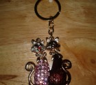 Two cats keyring