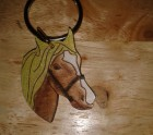 Golden brown horse keyring