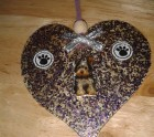 Yorkie on a heart hanger