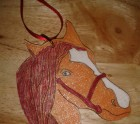 Red and gold Hanger (horse )