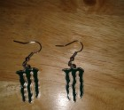 Monster drink earrings