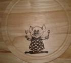 Piggy chopping board