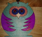 Purple and green owllie